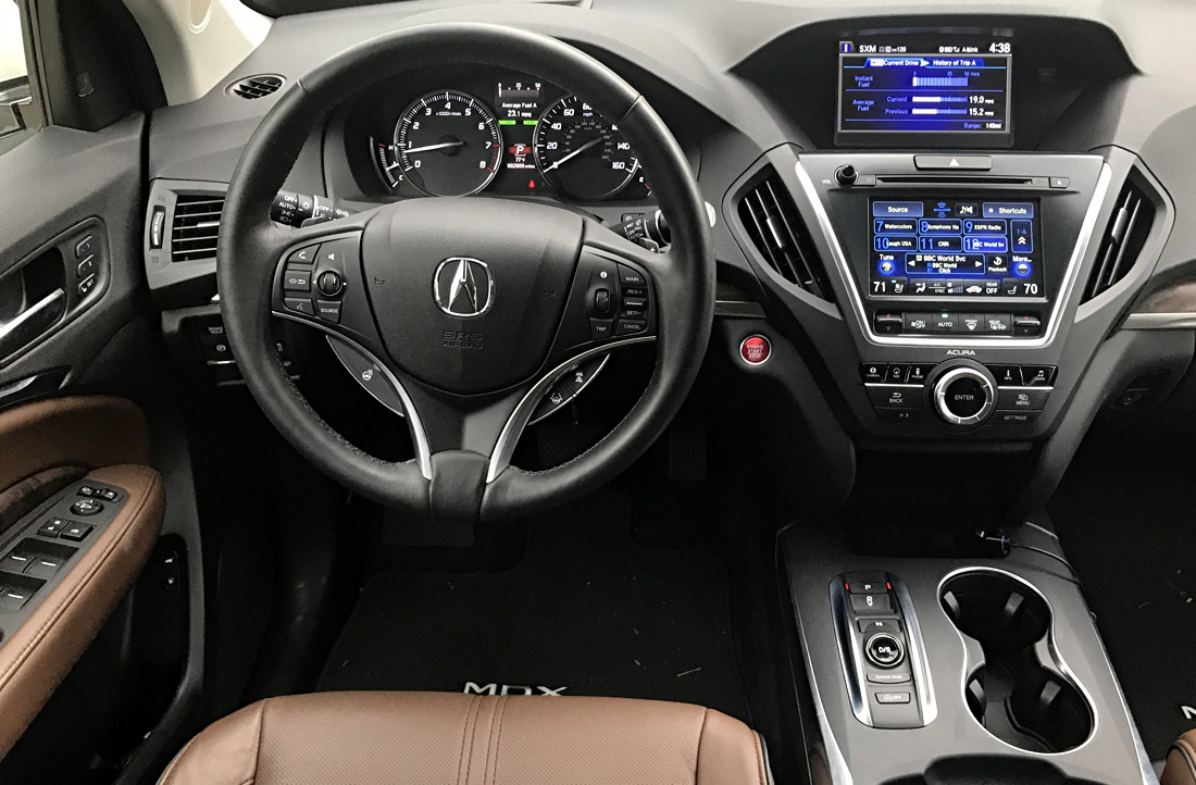 2017 acura mdx front dashboard interior
