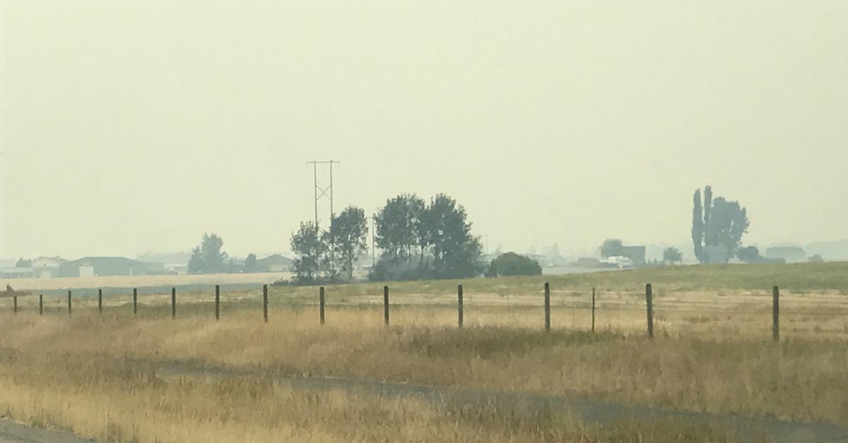 smoky montana - wild fires