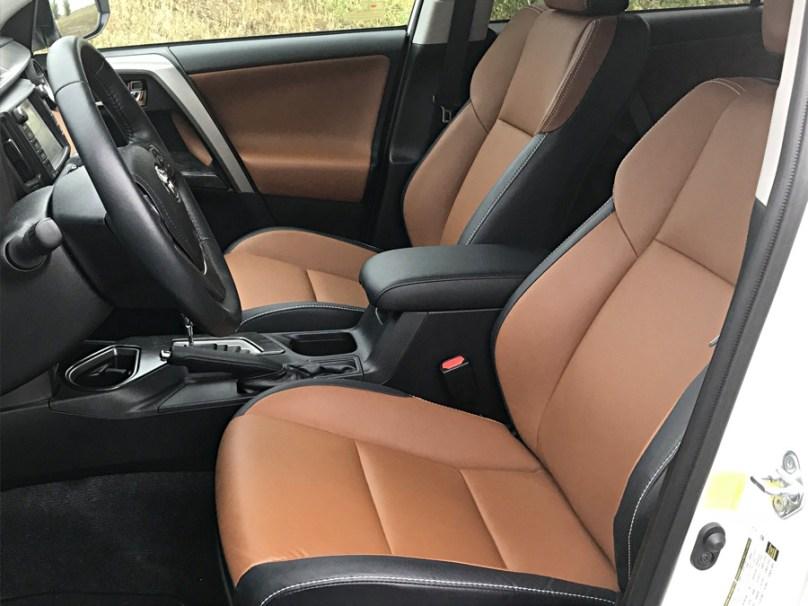 comfortable two-tone interior, 2017 toyota rav4 platinum