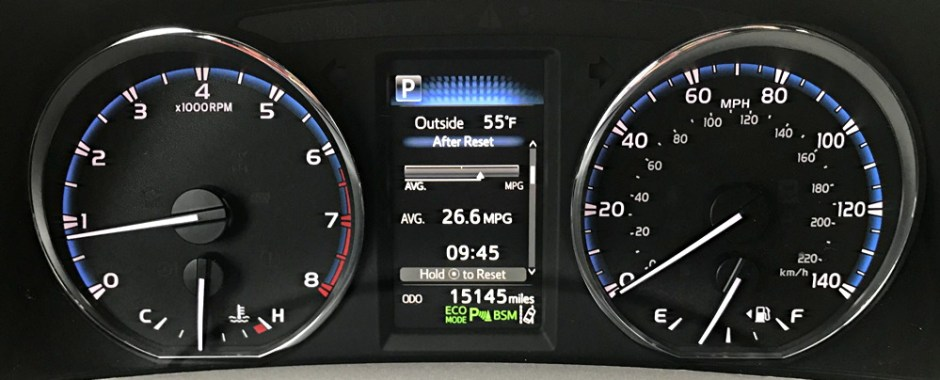 dashboard gauge design, 2017 toyota rav4