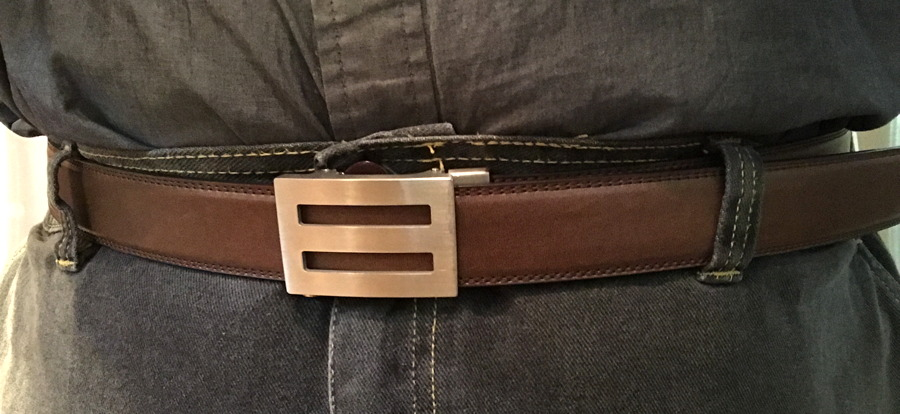 belt cinched tight