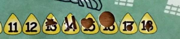 corn maze punchcard, closeup