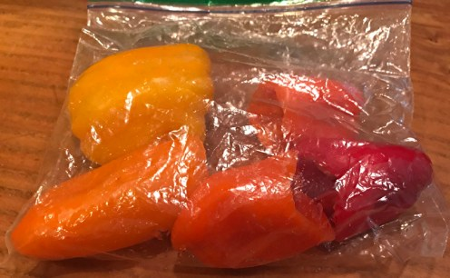 sweet red peppers snack