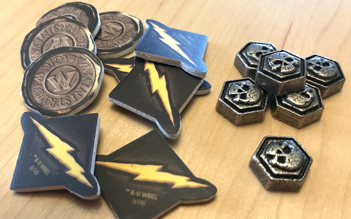 harry potter hogwarts battle tokens chits
