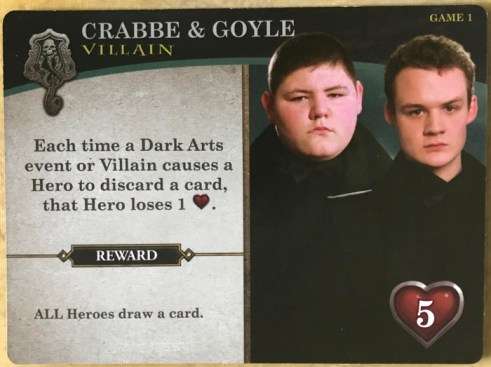 harry potter hogwarts battle - villain cards - crabbe goyle