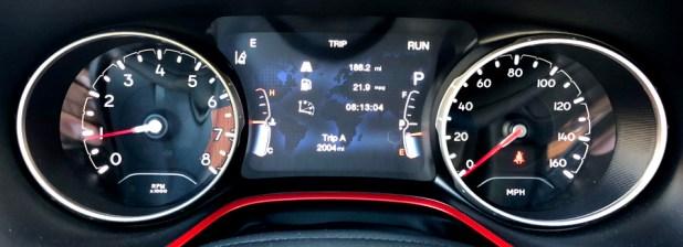 2017 jeep compass front dash gauges