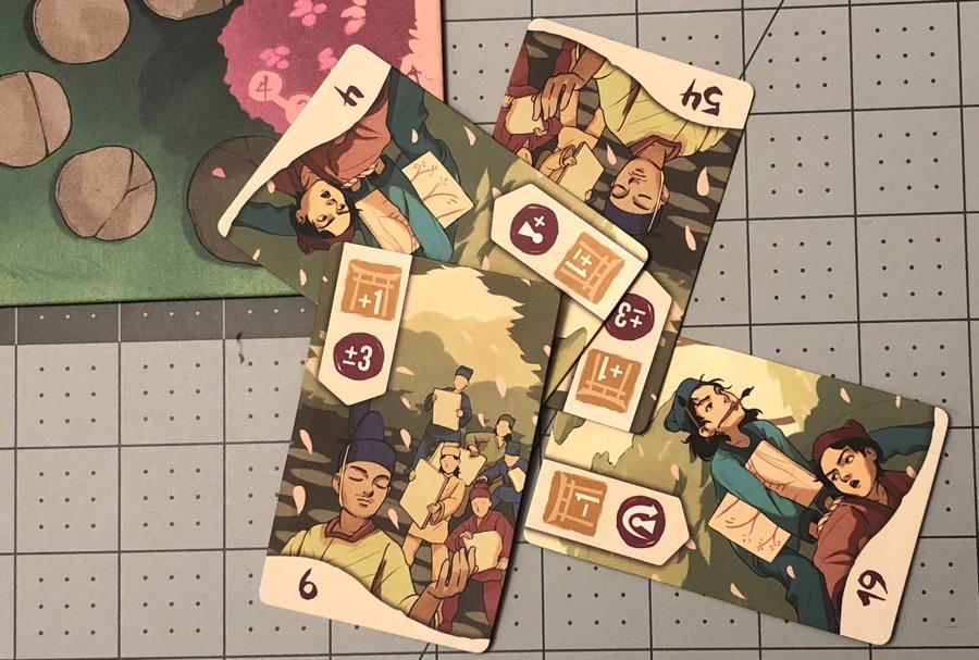four cards played sakura game