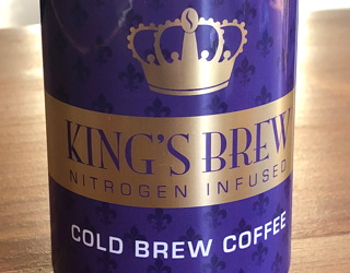king's brew nitrogen infused cold brew coffee can tasting test - king's row coffee