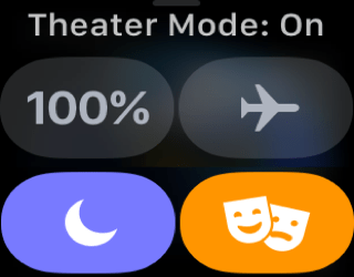 movies apple watch theater mode phones