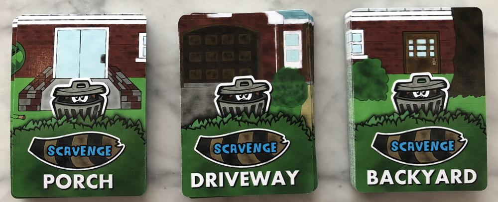 scavenge card game - trash can cards