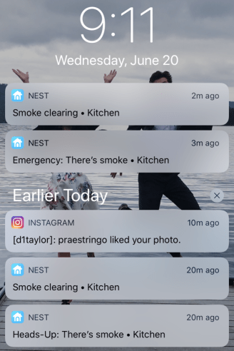 nest smoke alarm warning alert