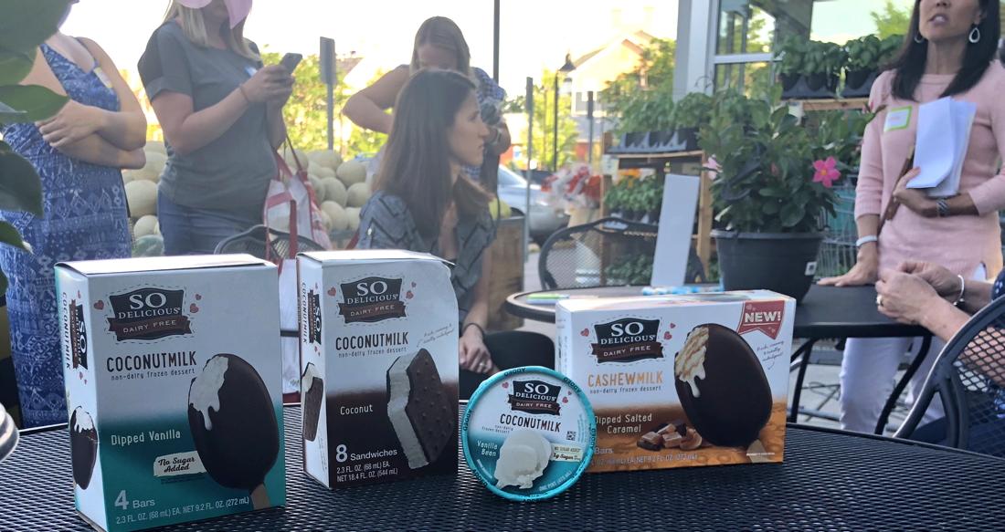 organic non-dairy ice cream samples