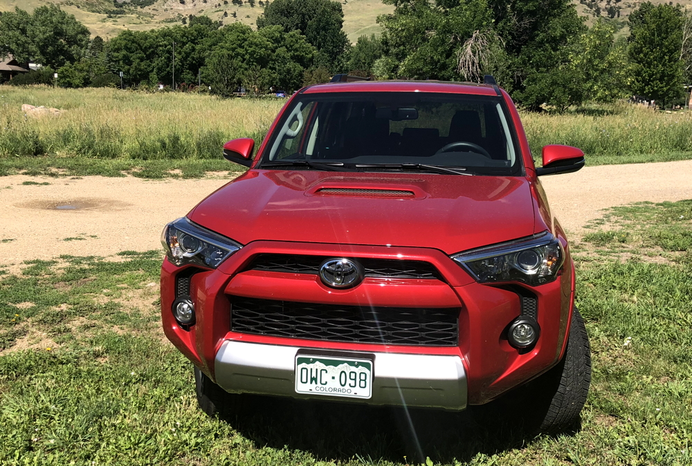 front view, 2018 toyota 4runner trd