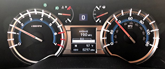 2018 toyota 4runner dash gauges