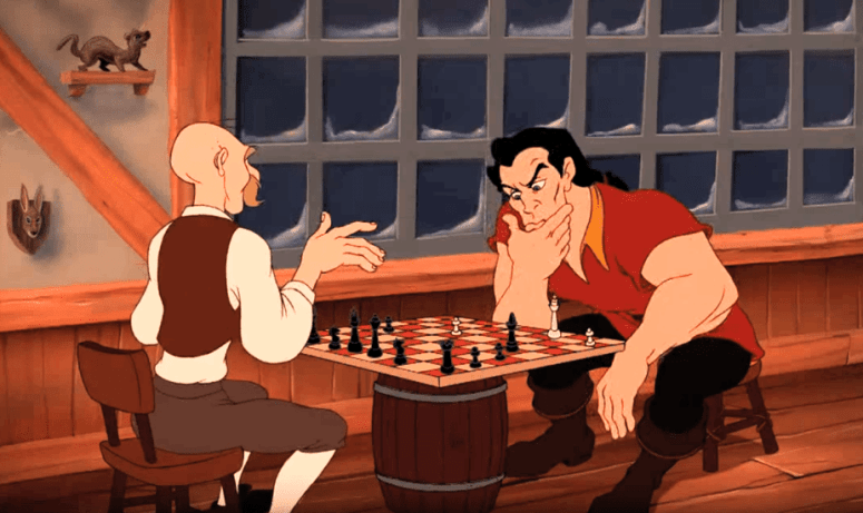 contemplating a chess move