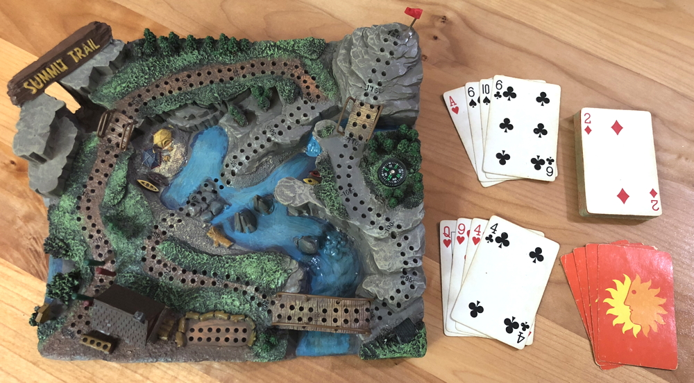 summit trail cribbage board