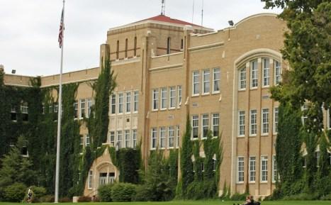 high school facade