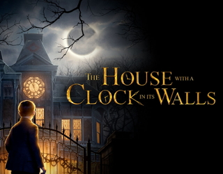 review film movie house with a clock in its walls