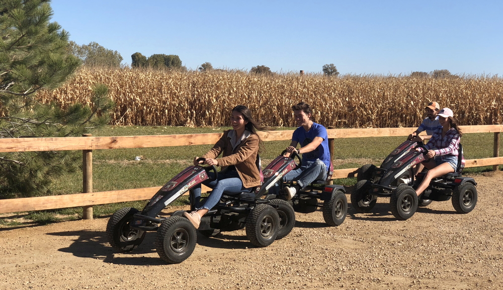 family pedal cars, anderson farms