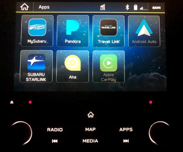 2019 subaru starlink apps view