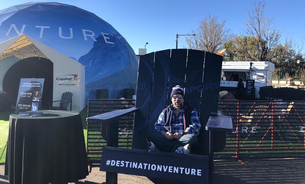 huge adirondack chair, destination dome