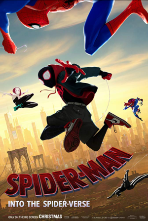 spider man into the spider verse one sheet movie poster