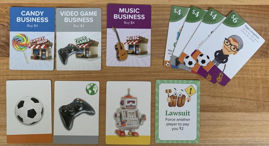goventure entrepreneur card game - winning hand