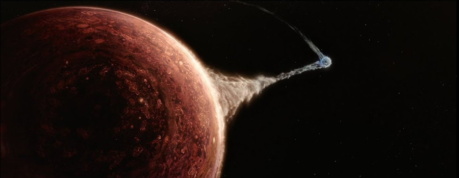 the wandering earth - jupiter pulling on the Earth