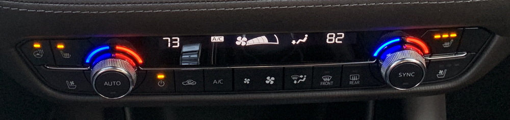 2018 mazda mazda6 dashboard controls