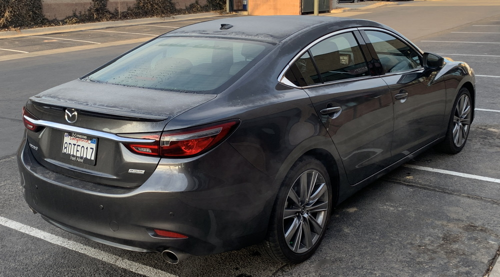 rear view, 2018 mazda6 signature