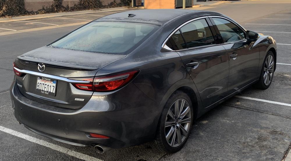 rear view, 2018 mazda6 signature