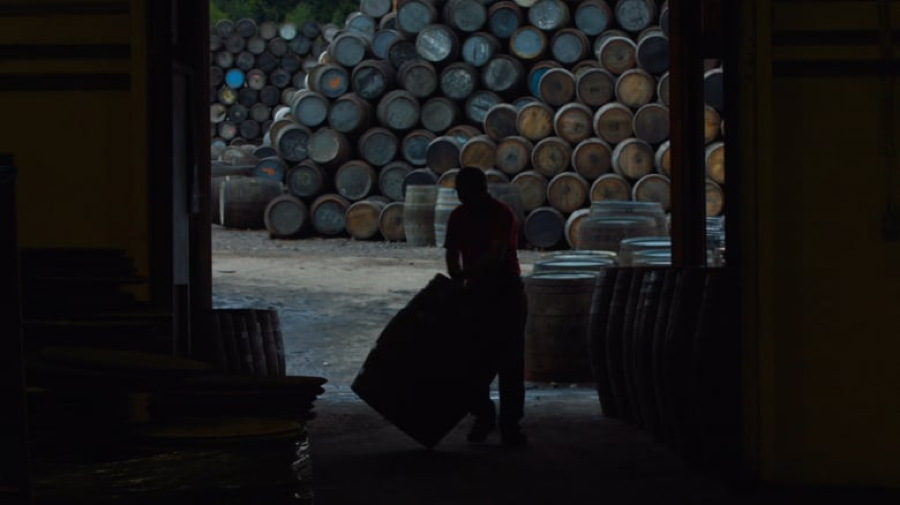 "scotch whisky barrels piled up, from ""Scotch: A Golden Dream"""