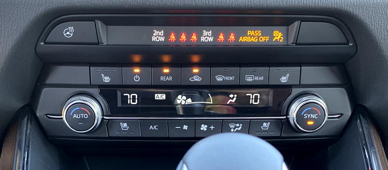 2019 mazda cx-9 signature dashboard radio controls - seat belt signs
