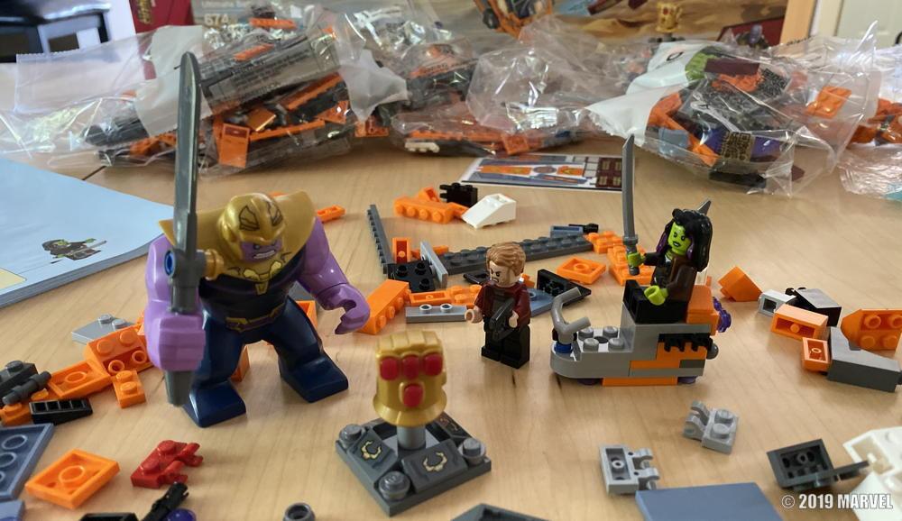 lego captain america civil war avengers lego kit - on table