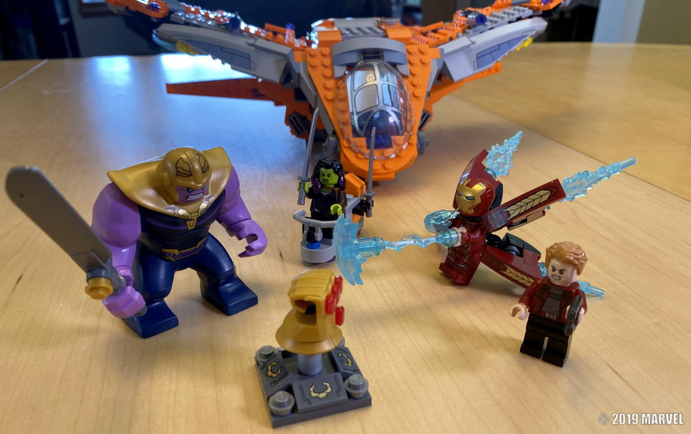 lego marvel avengers infinity war under construction © 2019 marvel