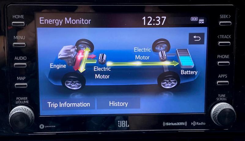 2019 toyota rav4 hybrid - power train animation display