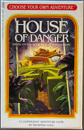 cyoa house of danger board card game - zman games - review