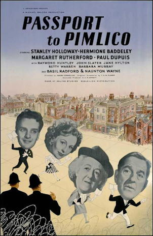 passport to pimlico movie poster one sheet