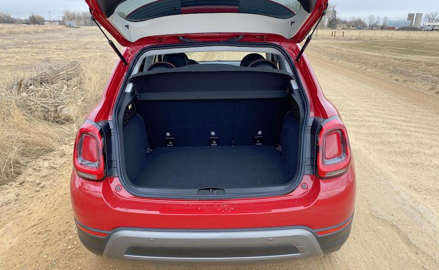 2019 fiat 500x  rear cargo space