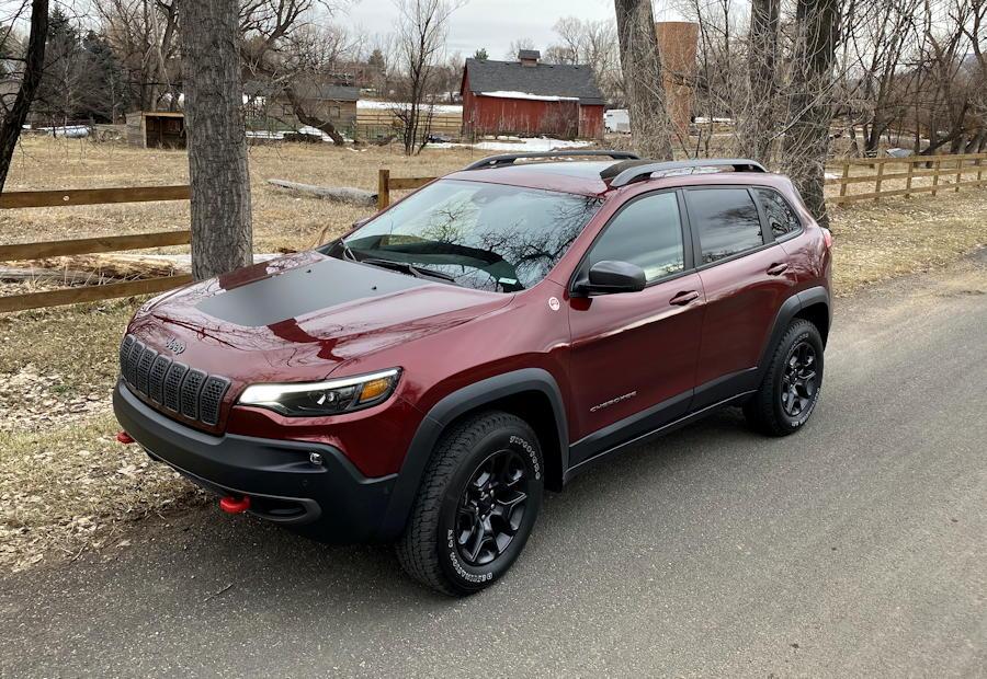 2020 jeep cherokee trailhawk elite - exterior red