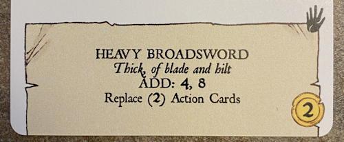 forgotten depths game - item: heavy broadsword