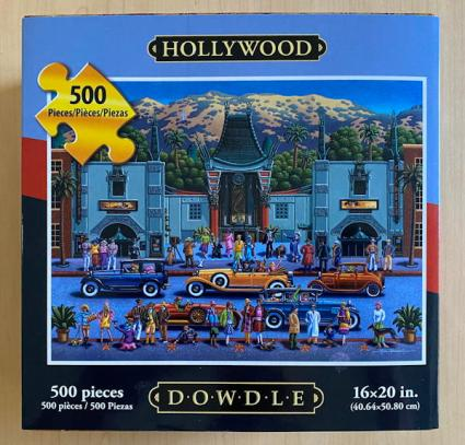 dowdle folk art jigsaw puzzle - hollywood - in the box