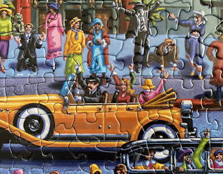dowdle folk art jigsaw puzzles review - hollywood