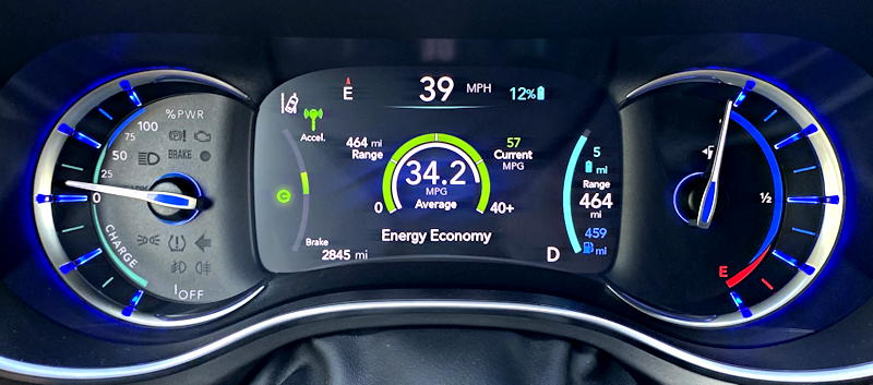 2019 chrysler pacifica hybrid ltd - main gauge