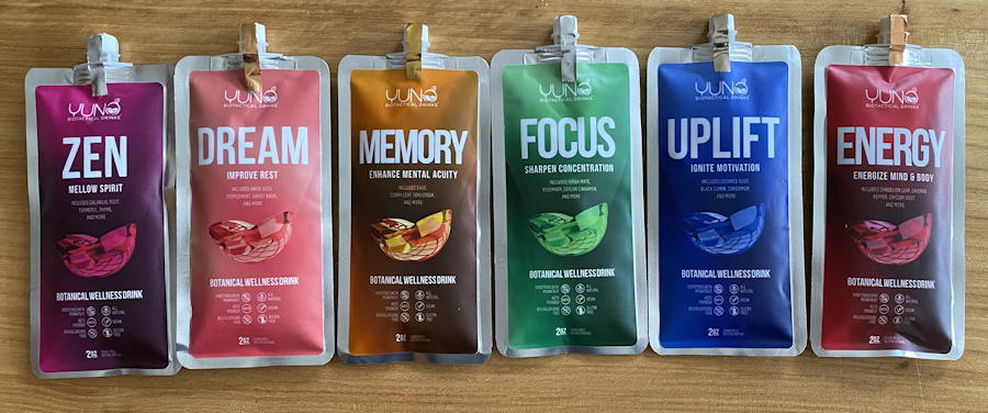 yuno biotactical drinks samples flavors blends