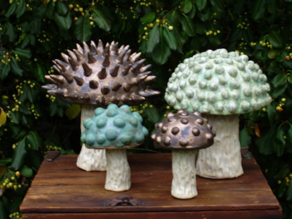Mushroom Sculptures  Goff Creek Pottery