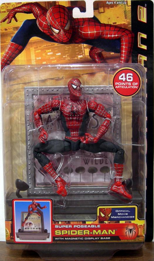 Super Poseable Spider Man : super, poseable, spider, Super, Poseable, Spider-Man, Figure, Magnetic, Display