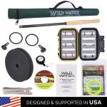 Wild Water Fly Fishing Tenkara Rod Combo 12' Fly Rod Complete Starter Package