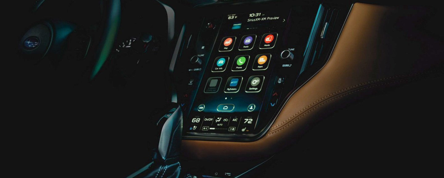 All-New Subaru Legacy Teases Its Huge Infotainment Screen Ahead Of This Week's Chicago Debut