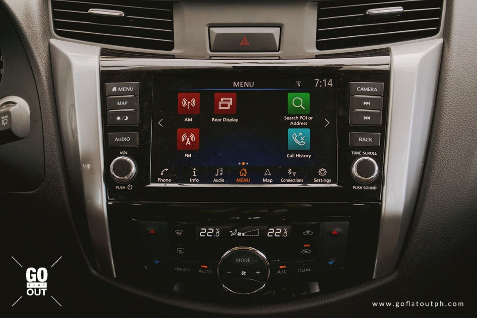 Nissan Connect Infotainment System inside Nissan Terra and Navara